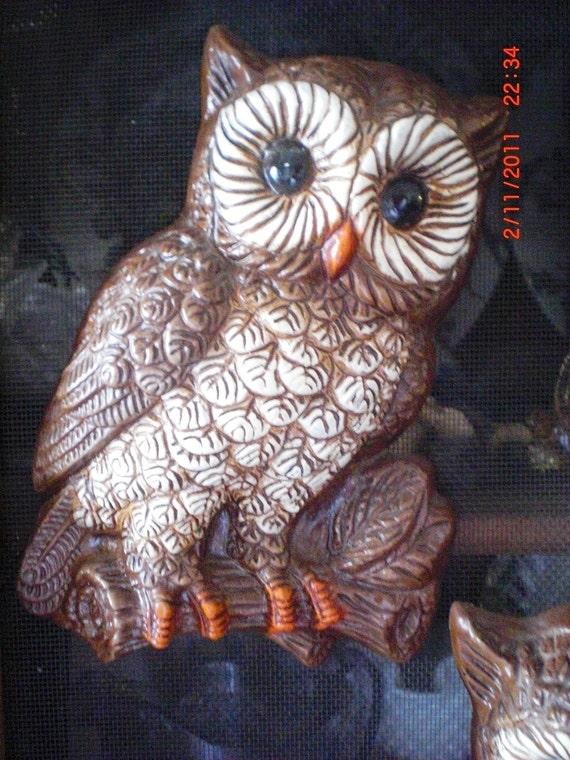 Vintage Pair of Hooty Owls