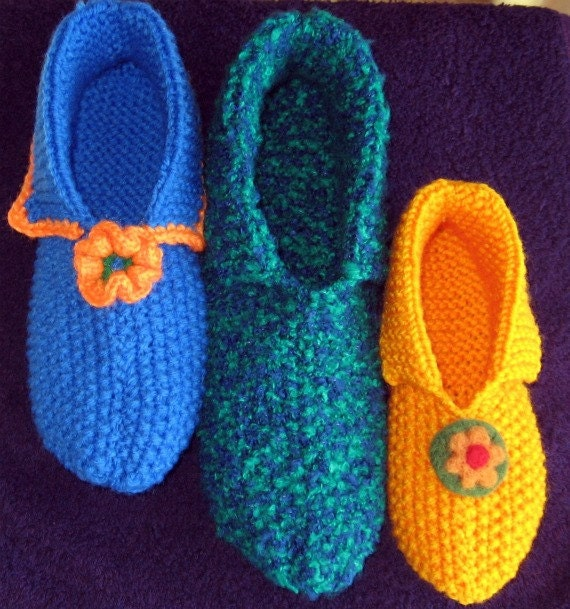 PATTERN only - Knitted Slippers
