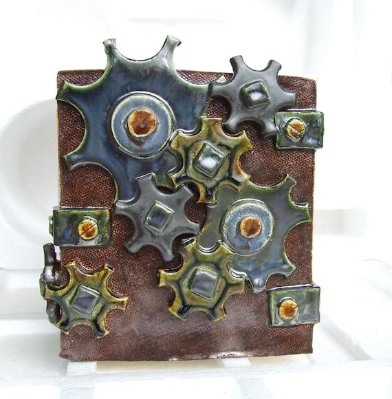 steampunk home decor ceramic pot