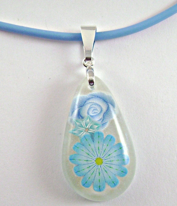 resin and polymer clay necklace 6