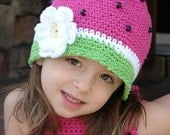 Boutique Crochet Custom Watermelon Cloche...baby, toddler sizes