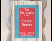 Ocean Breeze - Scented Soy Tea Lights