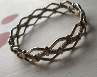 BANGLE BRACELET VINTAGE Braided Woven Look