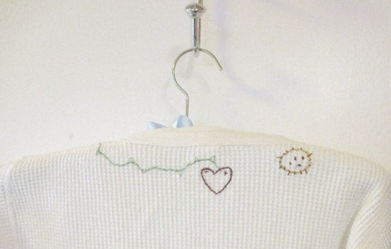 """GRUNGE TOP VINTAGE Upcycle Embroidered Ooak """"You Are My Sunshine"""""""