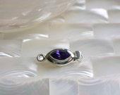 Vintage Swarovski Crystal Amethyst color Sterling Silver Clasp