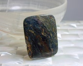 Bead Focal Jasper picture Blue Green and Gold