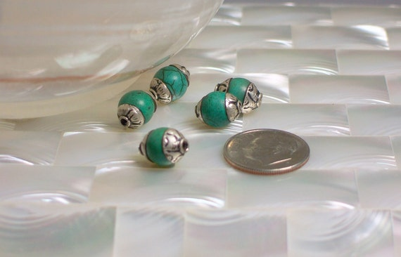 Bead Sterling Silver Turquoise Gemstone 1pc