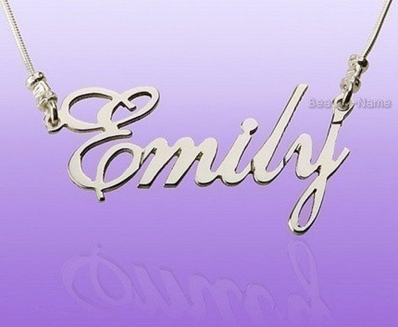 Make Your Gift Personal with Custom Name Necklace Personalized Name Necklace, with Any Name up to 10 letters, Solid Silver