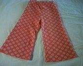 Vintage Orange & White Toddler Bell Bottom Pants