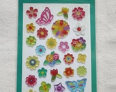 Cute Little Sticker Sheet-Butterflies and flowers
