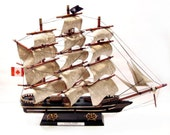 Vintage Model Ship, Cutty Stark Sailing Ship Replica Sculpture