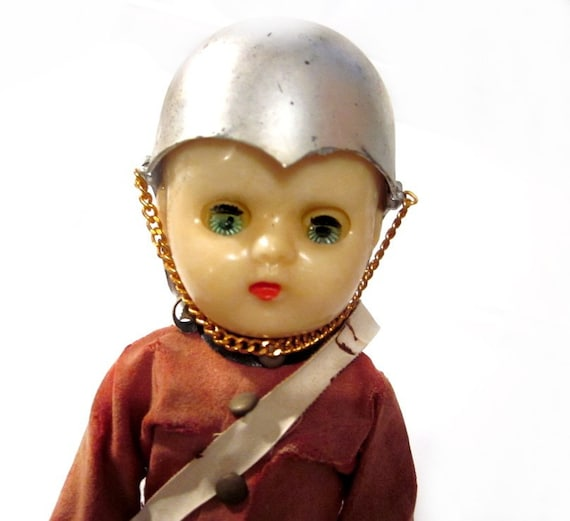 Creepy Antique / Vintage Soldier Boy Doll for Collecting or Re-Purposing