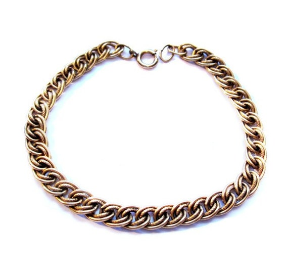 Vintage Charm Bracelet, Gold Starter Chain