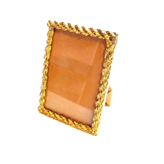 Vintage Brass Picture Frame, Gold, Photo Photograph