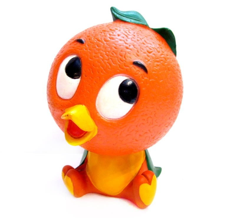 Adorable Vintage Retro Florida Orange Bird Bank Plastic