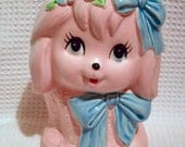 Pink Puppy Baby Planter or Sink Caddy  1950s