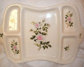 Crooksville Dinner Rose Divided Relish Tray