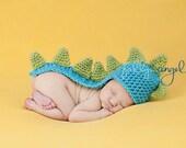 Custom Crochet Long Tail Dinosaur Baby Beanie Hat