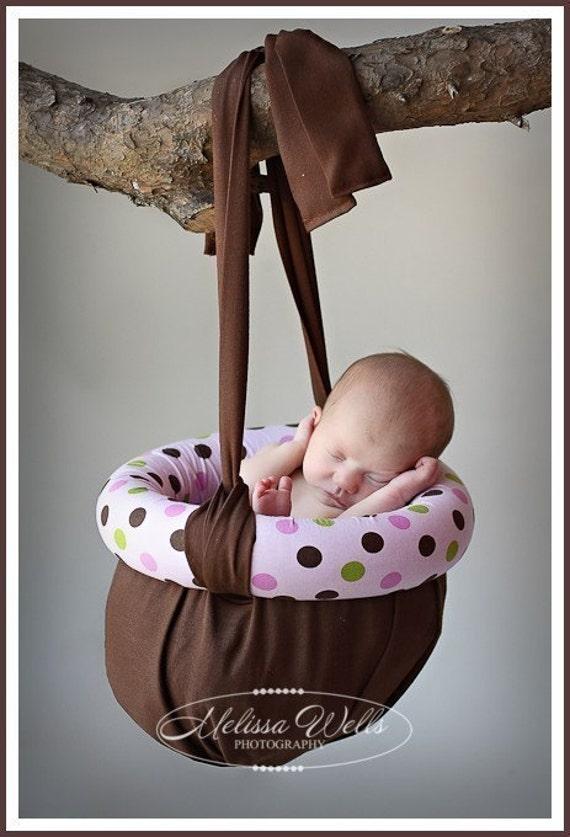 Custom Newborn Baby Hanging Planter Photography Prop