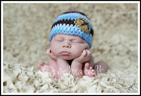 Custom Crochet Baby Beanie Hat