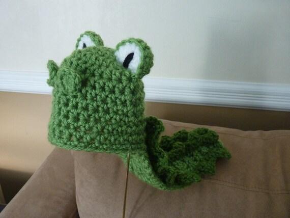 Custom Crochet Long Tail Alligator Baby Beanie Hat