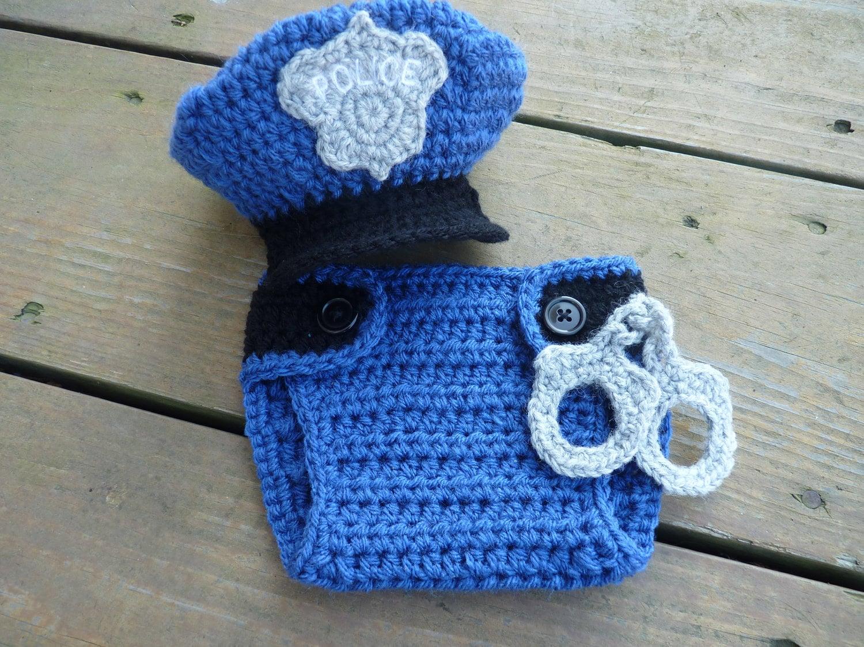 Custom Crochet Little Policeman Set