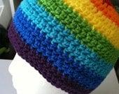 Rainbow Beanie-All Sizes-Crochet