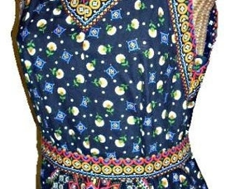 Groovy 70s Vintage Hippie Halter Maxi Dress with Jacket, Boho Flower Chick