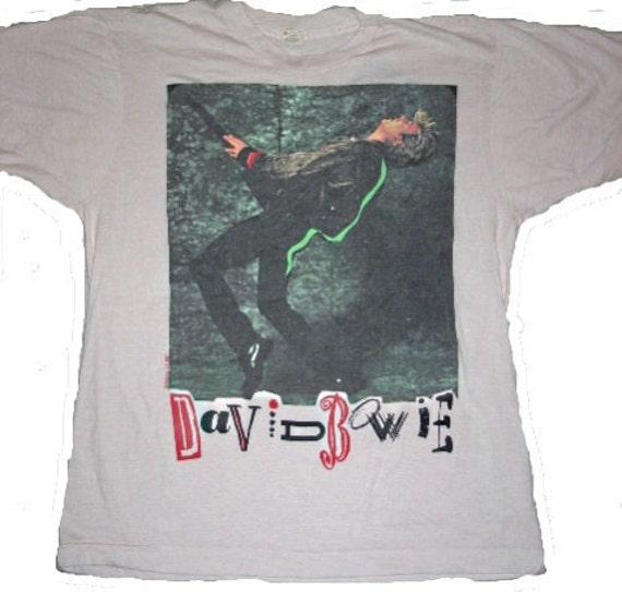 Vintage 80s DAVID BOWIE T-Shirt,1987,Glass Spider Tour Tee