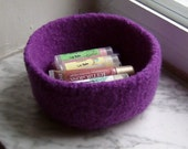 Felted Wool Bowl Violet Purple