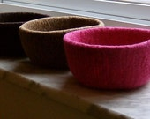 Felted Wool Bowl Sale - Pick Any Three