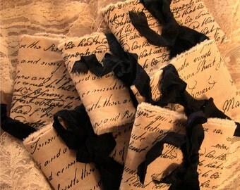 Old World Script Trim - Black Script (0346)