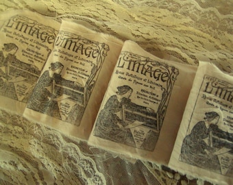 L'image - French Hand Stamped Muslin Trim (0249)