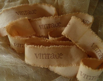 OLD WORLD STYLE - Vintage Hand Stamped Ribbon Trim (0404)