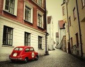 Little Red Car - Fine Art Photographic Print 6 x 6