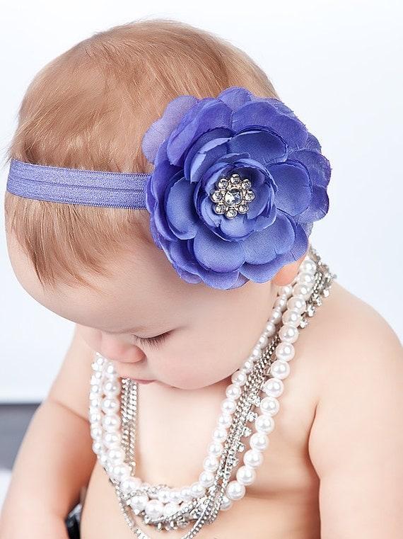 Baby Girls Headbands..Baby Headbands..Newborn Headbands..Periwinkle Headbands..Purple Headbands..Lilac..Infant..toddler..Photo Prop