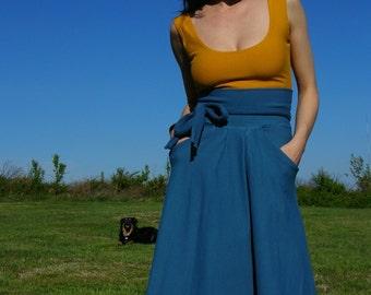 Pretty Birdie's High Waisted Pocket Bamboo Swing Skirt