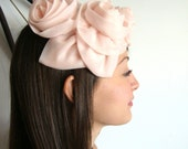 1950 Vintage  Pink ROSES Pillbox Hat from Pudding