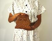 Hippy Vintage Wooden Owl Napkin Holder from Pudding