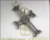 Sale Sterling Silver Celtic Cross Pendant Original Box Ogham Crafters