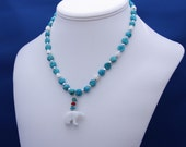 Aethelwulf and Aesara-(Turquoise and White Agate)