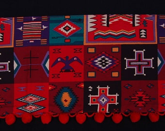 vintage tribal indian southwest tea towel