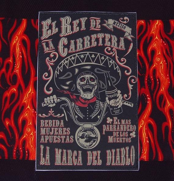 SALE skeleton devil tea towel