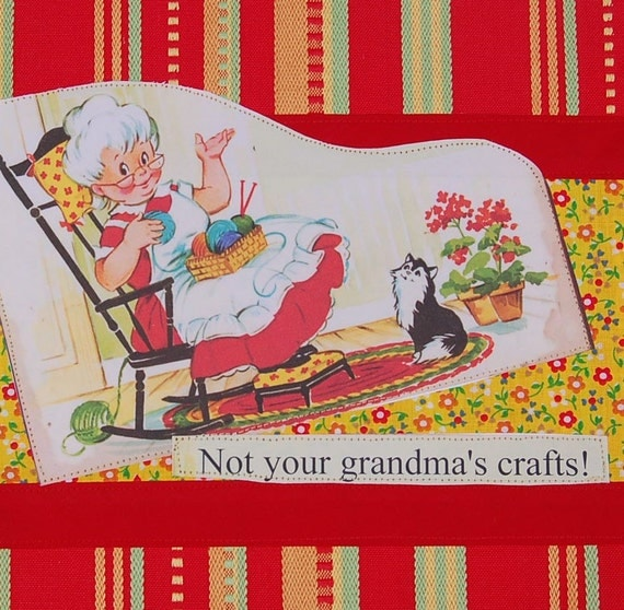 This Is Not Your Grandma S Chandelier: Items Similar To Not Your Grandmas Crafts Tea Towel On Etsy