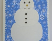 CUSTOM \/\/ Snowmen buttoned-up greeting cards (Set of 20, with lined envelopes)