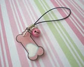 Pink Bone Cell Phone Charm