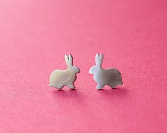 Little Cute Bunny Stud Earrings
