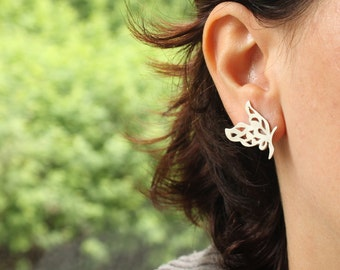 Butterfly Stud Sterling Silver Earrings