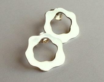 Abstract Rose Earrings Stud