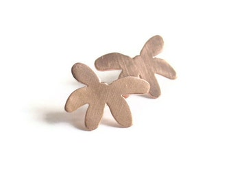Rose Gold Plated Daisy Fortune Earrings Sterling